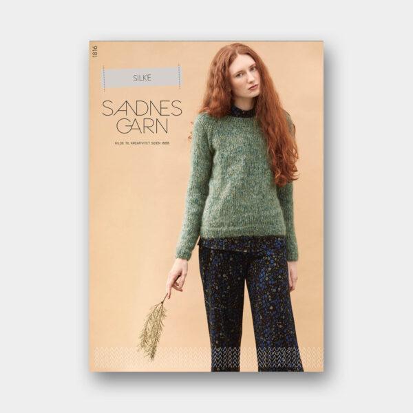 Couverture du catalogue de patrons de tricot pour femmes avec fil à base de soie de Sandnes Garn n°1816
