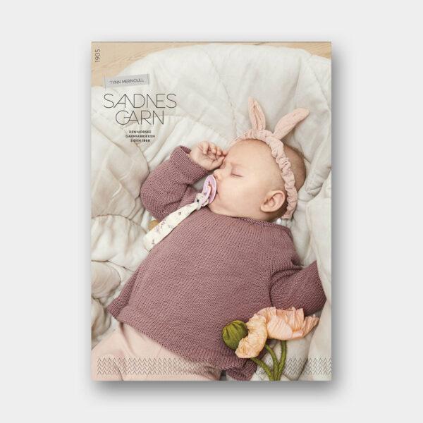 Couverture du catalogue de patrons de tricot pour bébés de Sandnes Garn n°1905