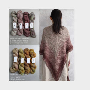 Kit Châle Aki Fuyu by Eri – Kokon Yarn