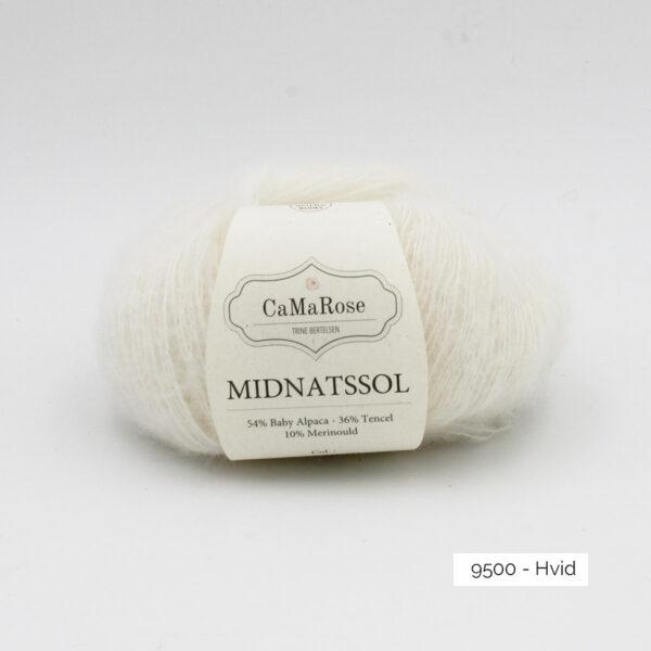 Une pelote de Midnatssol de CaMaRose coloris Hvid (blanc)