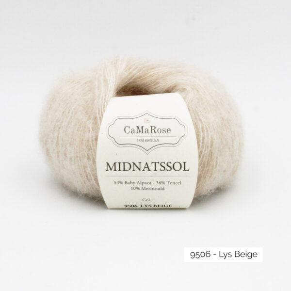Une pelote de Midnatssol de CaMaRose coloris Lys Beige (beige chiné)