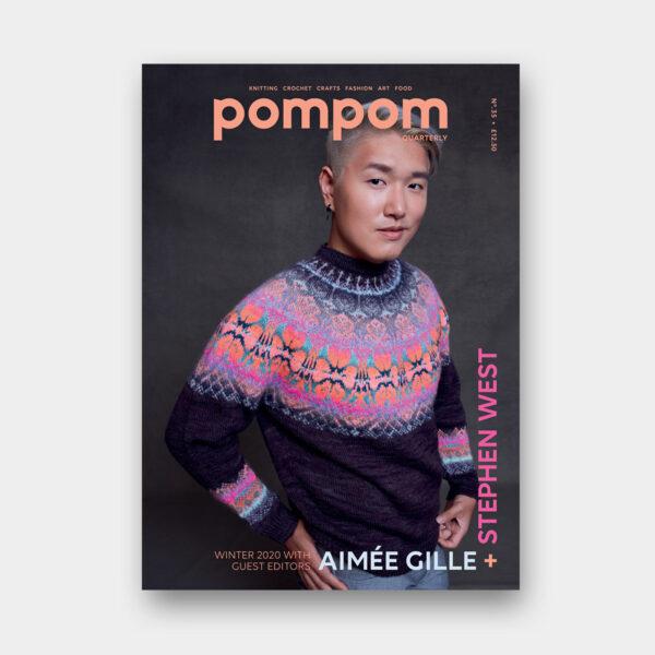 Couverture du numéro 35 de Pompom Quarterly édité par Stephen West et Aimée Gille