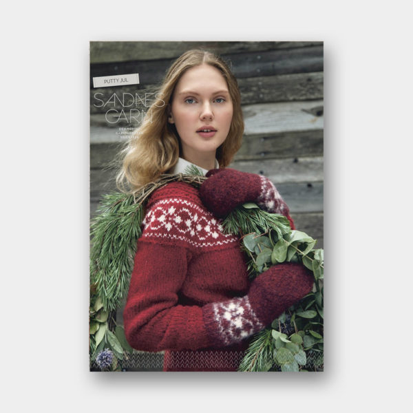 Couverture du catalogue de patrons de tricot sur le thème de Noël de Sandnes Garn n°66