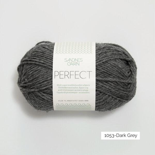 Une pelote de Perfect de Sandnes Garn coloris Dark Grey (gris foncé)