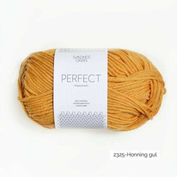 Une pelote de Perfect de Sandnes Garn coloris Honning Gul (miel)