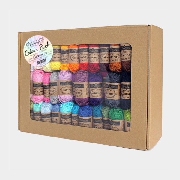 Display of a colour pack of Catona by Scheepjes