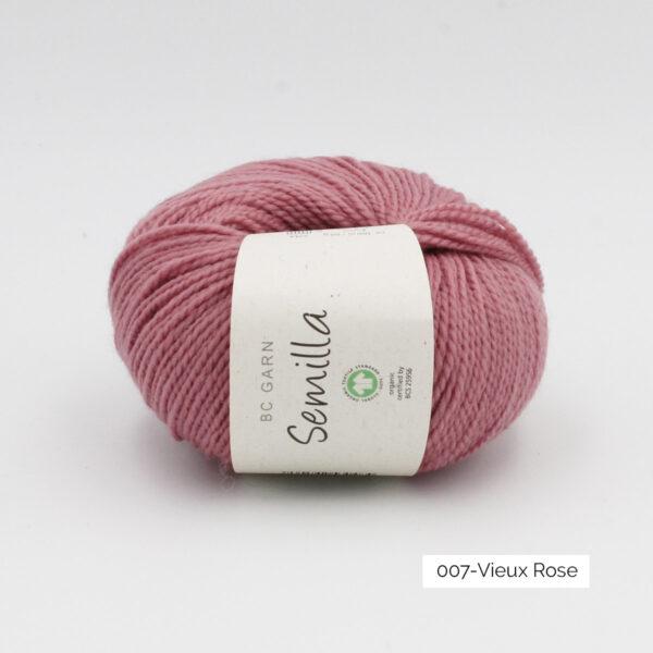 Une pelote de Semilla GOTS de BC Garn coloris Vieux Rose