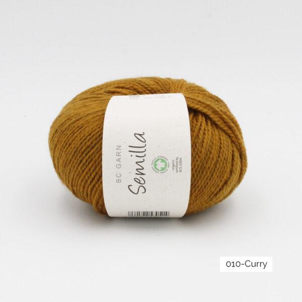 Une pelote de Semilla GOTS de BC Garn coloris Curry