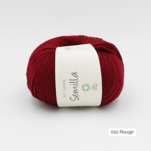 Une pelote de Semilla GOTS de BC Garn coloris Rouge