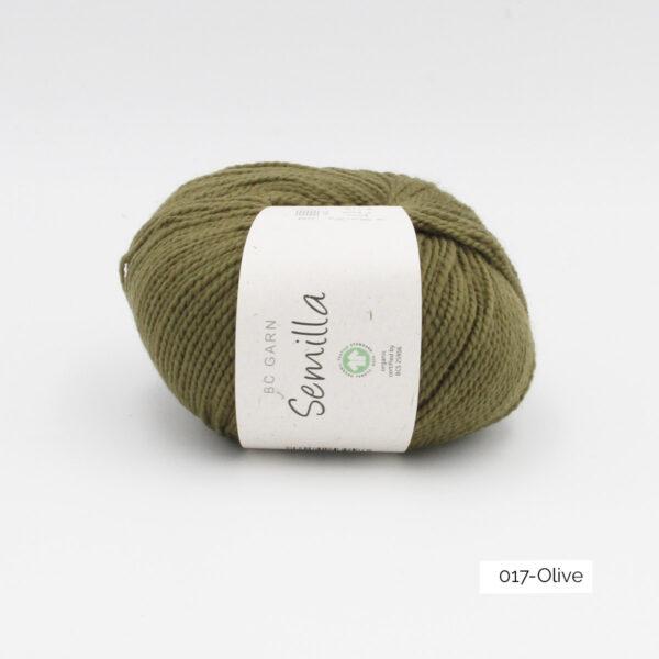 Une pelote de Semilla GOTS de BC Garn coloris Olive