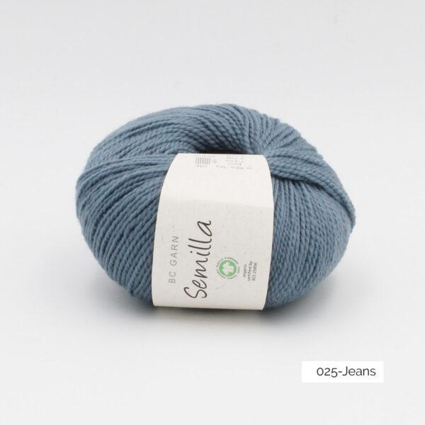 Une pelote de Semilla GOTS de BC Garn coloris Jeans