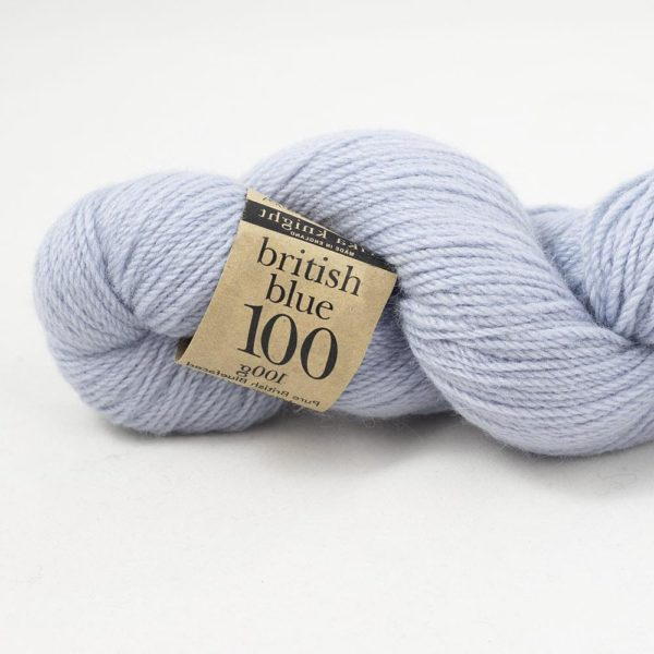 Zoom on a skein of British Blue Wool by Erika Knight in the Kanoko colorway