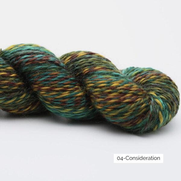 Présentation d'un écheveau de laine In the Mood de Kremke Soul Wool coloris Consideration