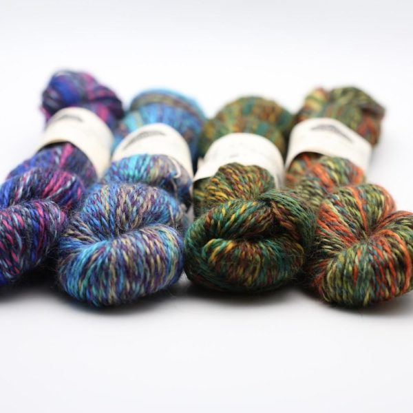 Présentation de 4 écheveaux de laine In the Mood de Kremke Soul Wool
