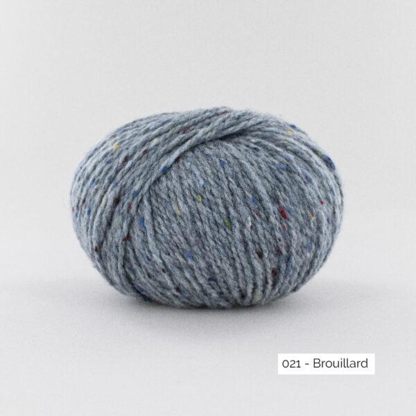 Une pelote de Super Tweed de Fonty en coloris 021 (brouillard)