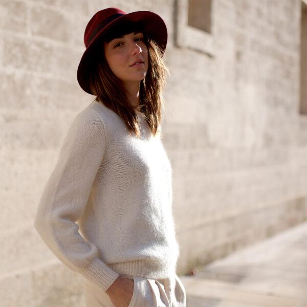 Présentation du pull Daisy d'Emilie Luis, patron de tricot paru dans le livre Woolship de Lili Comme Tout