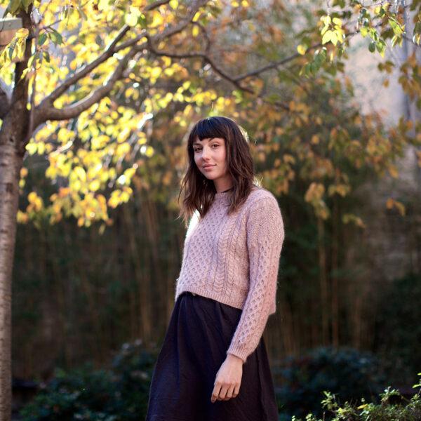 Présentation du pull Nore de Marion Em, patron de tricot paru dans le livre Woolship de Lili Comme Tout