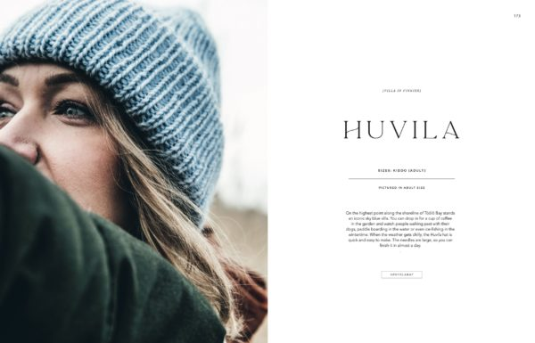 Page de présentation du bonnet Huvila du livre Urban Knit