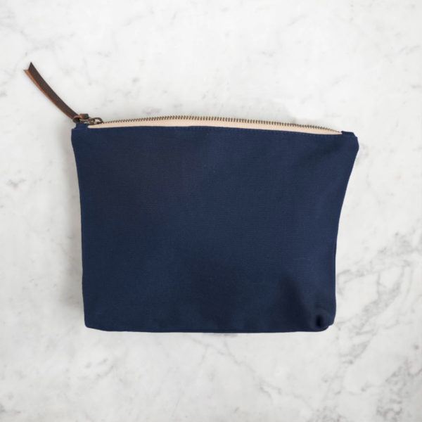 Display of an accessory pouch by Twig & Horn in the Navy colorway