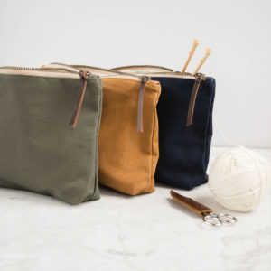 Twig & Horn – Canvas Accessory Pouch