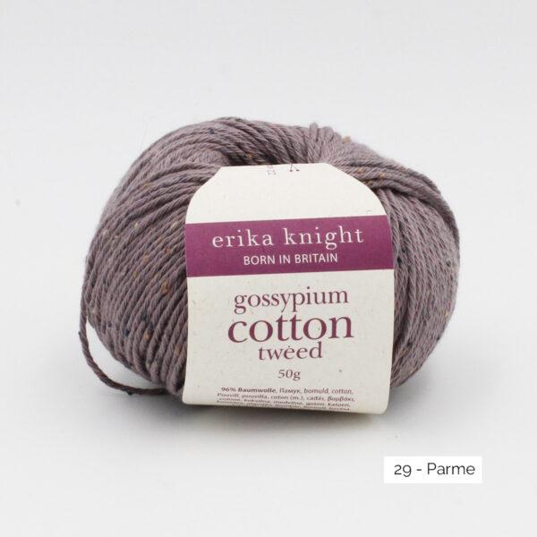 Une pelote de Gossypium Cotton Tweed d'Erika Knight coloris Parme