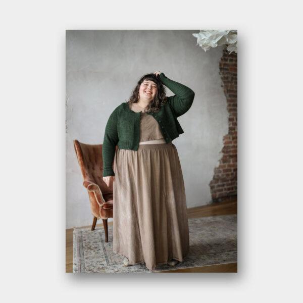 Présentation d'un ensemble composé de modèles à coudre et tricoter proposés dans le livre Embody de Jacqueline Cieslak