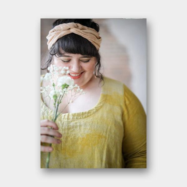 Page de présentation de la robe, patron de couture proposé dans le livre Embody de Jacqueline Cieslak