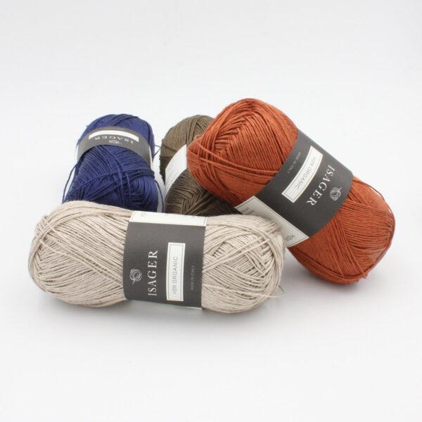 Présentation de la gamme de couleurs du lin à tricoter Hor d'Isager