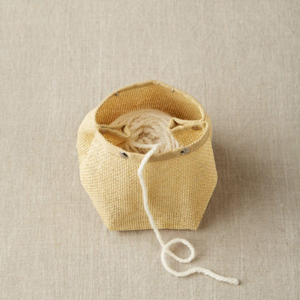 """Présentation d'un sac à pressions format """"bol à laine"""" Natural Mesh Bag de Cocoknits"""
