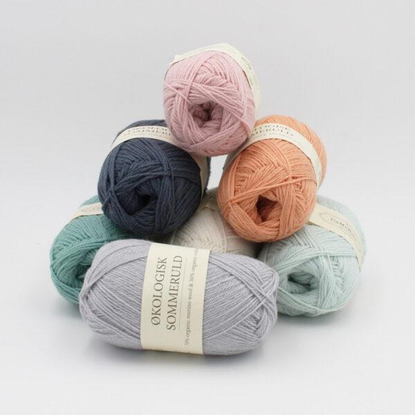 Set of 7 balls of Okologist Sommeruld by CaMaRose in assorted colours