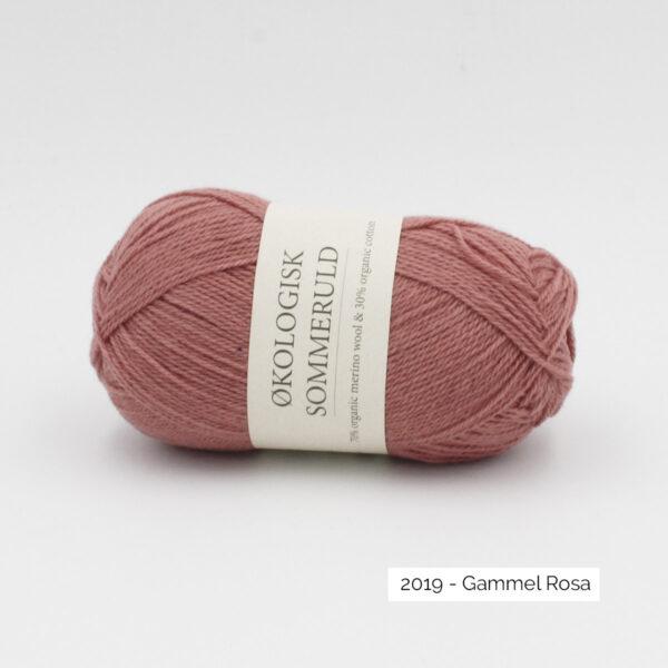 Une pelote de Okologist Sommeruld de CaMaRose coloris Gammel Rosa