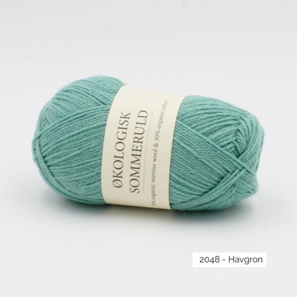 Une pelote de Okologist Sommeruld de CaMaRose coloris Havgron