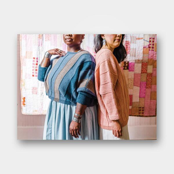 Présentation du pull Dayspring, patron de tricot du magazine Pom Pom Quarterly n°36 printemps 2021