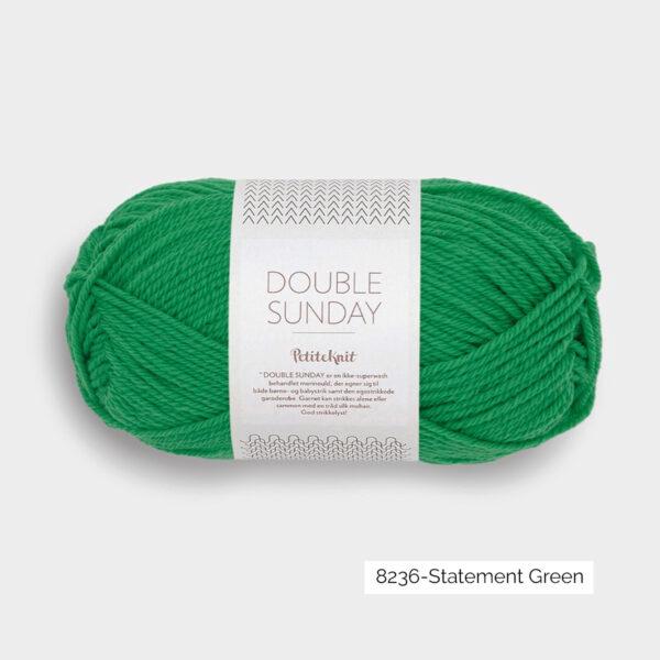 Une pelote de Double Sunday de Sandnes Garn coloris Statement Green (vert gazon)