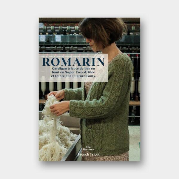 Présentation du gilet Romarin, patron de tricot du livre French Tricot d'Alice Hammer