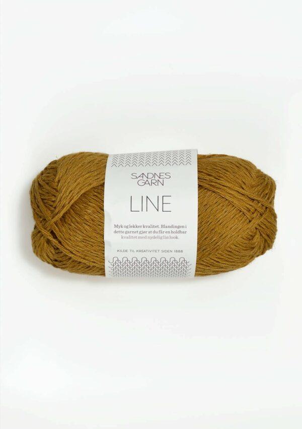 Une pelote de Line de Sandnes Garn coloris Karry (doré)