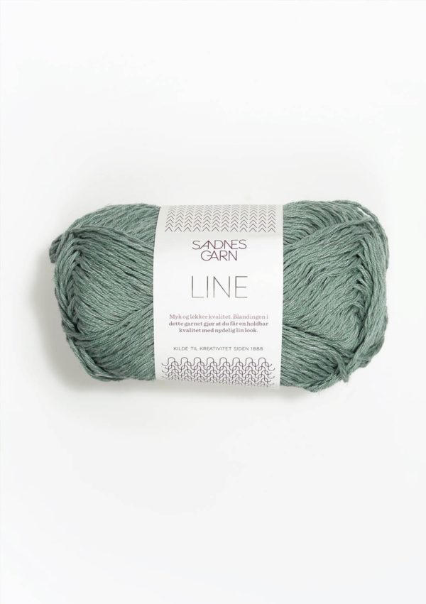 Une pelote de Line de Sandnes Garn coloris Stovet Aqua (vert d'eau)