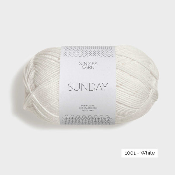 Une pelote de Sunday de Sandnes Garn coloris White