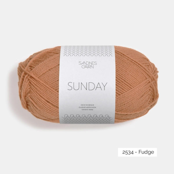 Une pelote de Sunday de Sandnes Garn coloris Fudge
