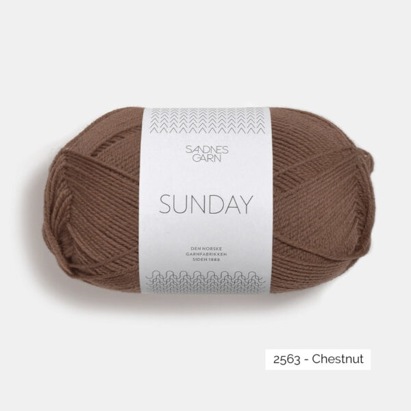 Une pelote de Sunday de Sandnes Garn coloris Chestnut