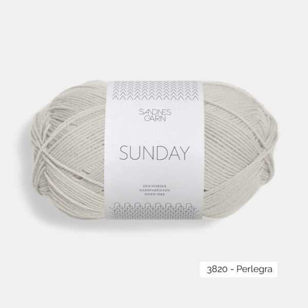 A ball of Sandnes Garn's Sunday by Petite Knit in the Perlegra colorway