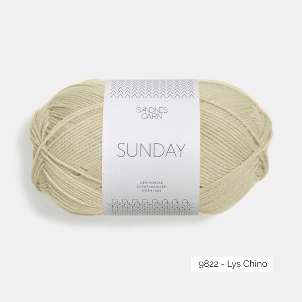 Une pelote de Sunday de Sandnes Garn coloris Lys Chino