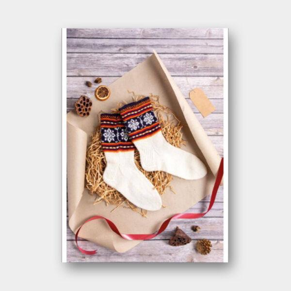 Présentation d'un modèle de chaussettes paru dans le livre 50 chaussettes à tricoter comme en Lettonie de Leva Ozolina