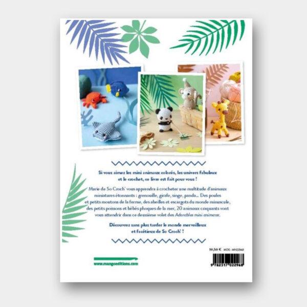 Quatrième de couverture du livre Nouveaux Adorables Mini Animaux de So Croch'