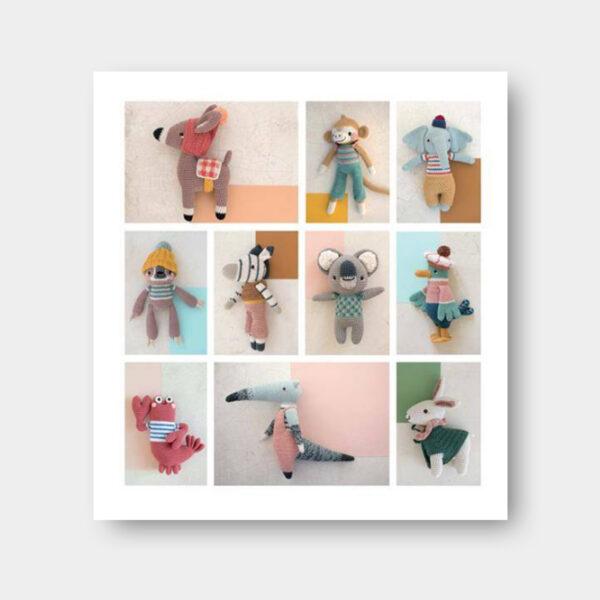 Présentation des modèles d'amigurumis parus dans le livre Les Amis de Pica Pau volume 2