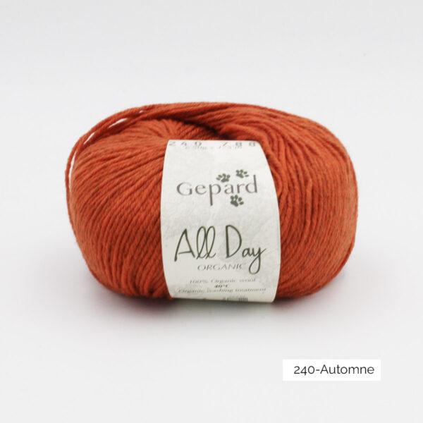 Une pelote de All Day Organic de Gepard Garn dans le coloris Automne
