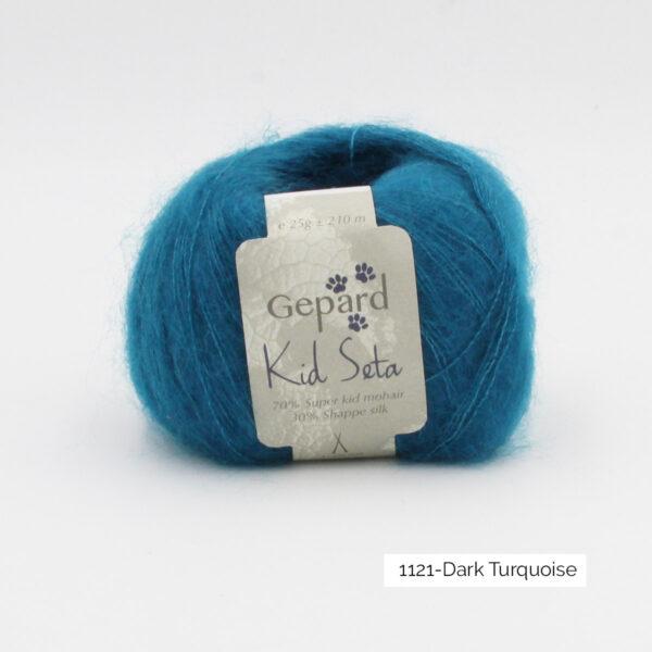Une pelote de Kid Seta de Gepard Garn coloris Dark Turquoise