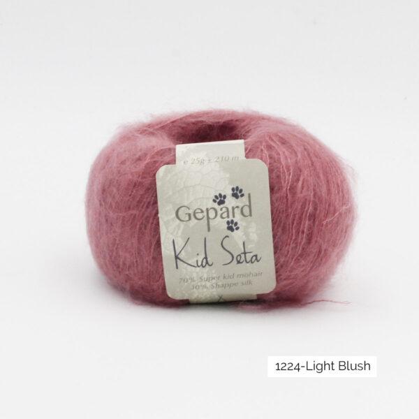 Une pelote de Kid Seta de Gepard Garn coloris Light Blush