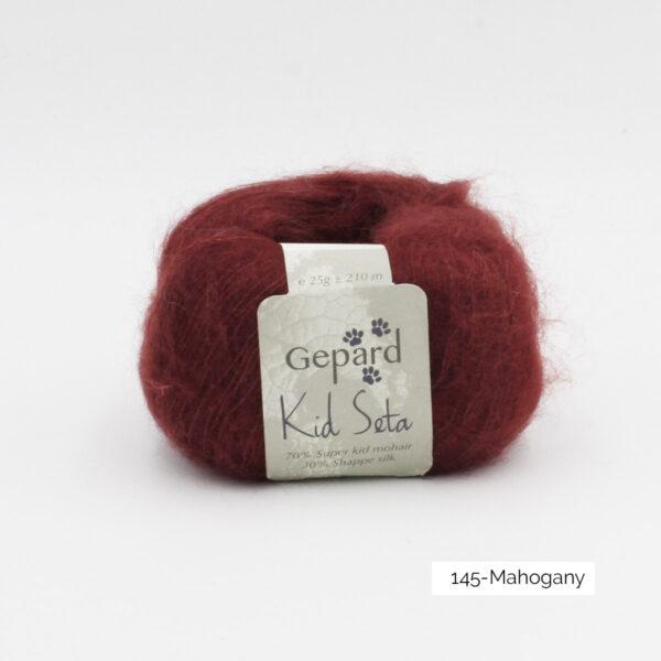 Une pelote de Kid Seta de Gepard Garn coloris Mahogany