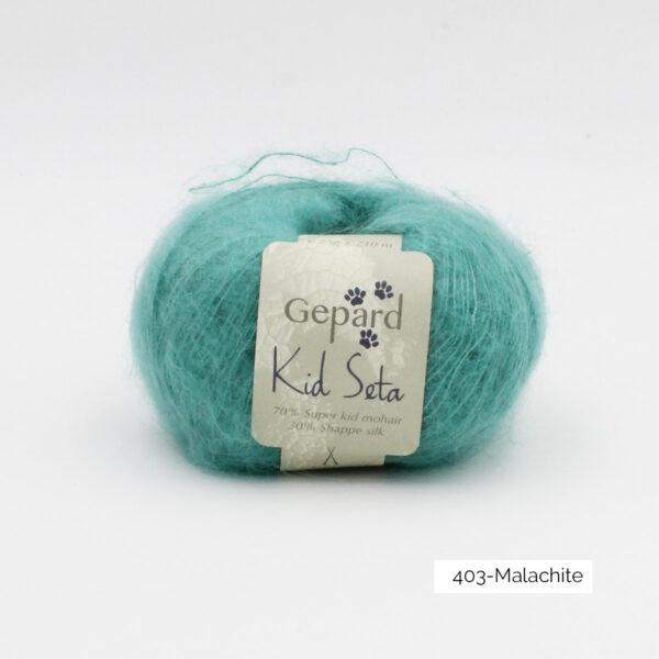 Une pelote de Kid Seta de Gepard Garn coloris Malachite